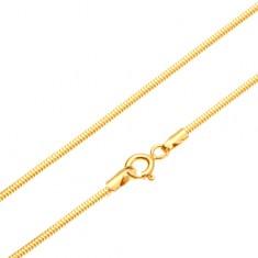 Złoty łańcuszek 585 - ogniwa ułożone we wzór skóry węża, 450 mm