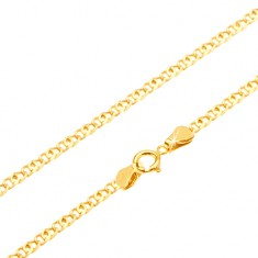 Złoty łańcuszek 585 - lśniące podwójne płaskie ogniwo, 440 mm