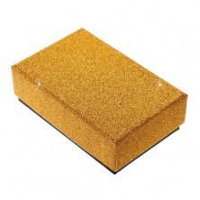 Upominkowe pudełeczko na zestaw lub naszyjnik - błyszcząca powierzchnia złotego koloru