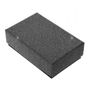 Czarne upominkowe pudełeczko na zestaw lub naszyjnik - błyszcząca powierzchnia