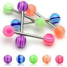 Kolczyk do języka - Multicolor Ball UV
