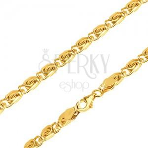 Łańcuszek z żółtego 14K złota - drobne elementy z węzełkiem, 600 mm