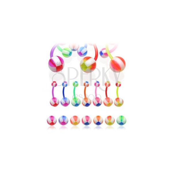 Piercing do pępka Multicolor Balla