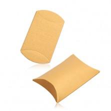 Upominkowe pudełko z papieru, gładka powierzchnia, lśniący złoty odcień