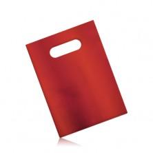 Matowa upominkowa torebka z celofanu, ciemnoczerwony kolor