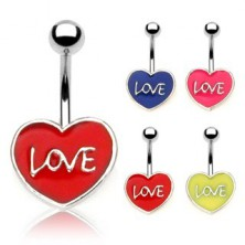 Piercing do pępka LOVE