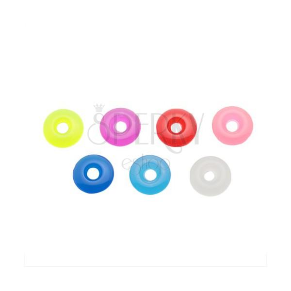 Akrylowe kolorowe kółko na piercing - zawieszka na sztangę