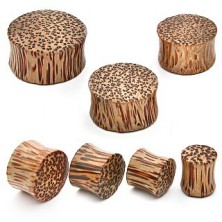 Plug do ucha - drewno kokosowe