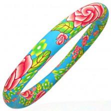Fimo bransoletka z pastelowym kolorowym motywem