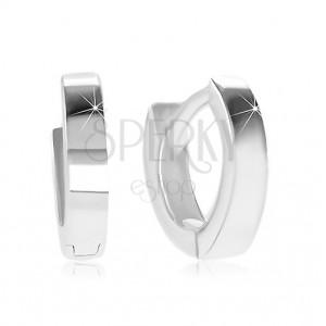 Kolczyki ze srebra 925 - małe krążki z błyszczącą i gładką powierzchnią