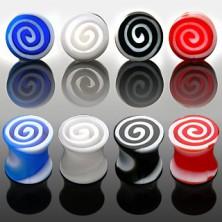 Plug do ucha - kolorowe spirale