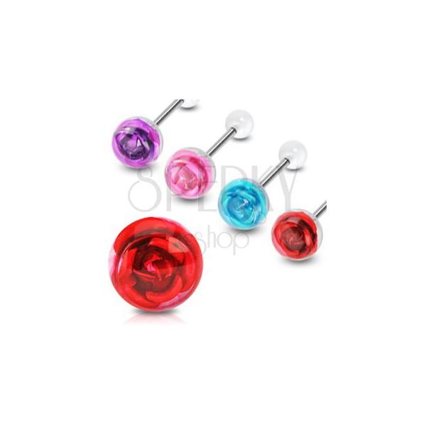 Kolczyk do języka róża