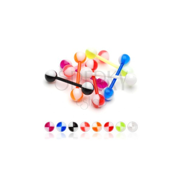Kolczyk do języka UV kolorowe ćwiartki
