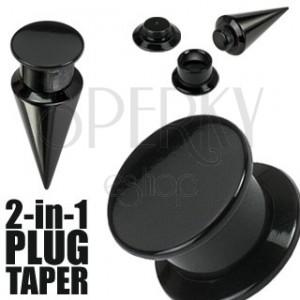 Taper i plug 2 w 1 czarny