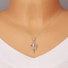 Srebrny wisiorek 925 - trójząb Neptuna z błyszczącą powierzchnią