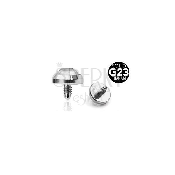 Zapasowa główka do implantu wykonana z tytanu G23 - przezroczysta okrągła cyrkonia, 5 mm