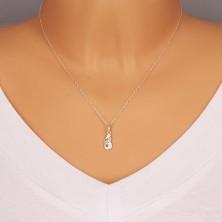 Srebrny 925 wisiorek, błyszczące cyrkonie, znak zodiaku - Koziorożec