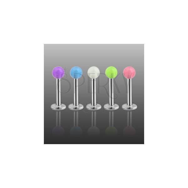 Labret - prześwitująca kolorowa kuleczka
