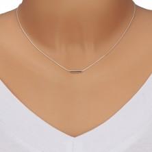 Srebrny 925 naszyjnik - delikatny łańcuszek z gęsto połączonych oczek, rurka