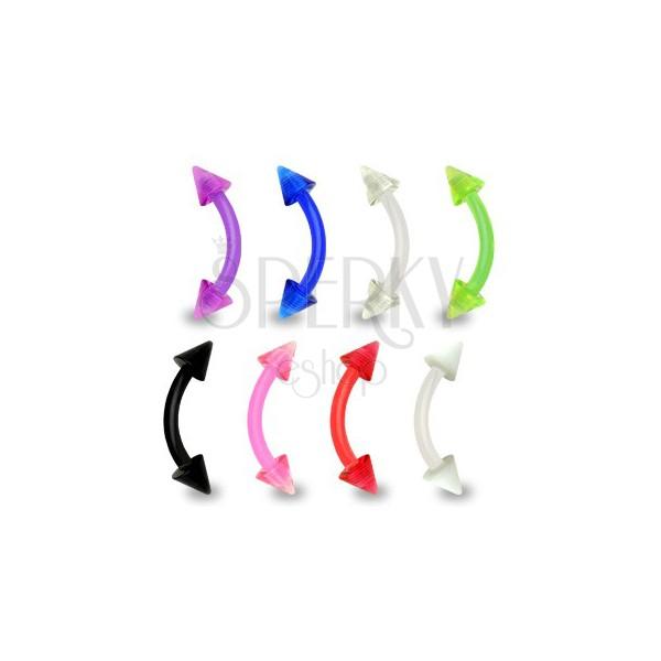 Piercing do brwi - EXTRA elastyczny z grotami