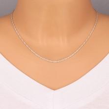 Srebrny łańcuszek 925 - delikatne zaokrąglone oczka, 1,7 mm