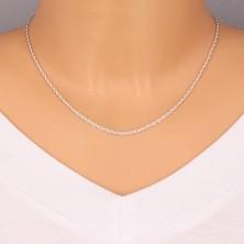 Srebrny łańcuszek 925 - delikatne zaokrąglone oczka, 1,9 mm