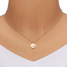 Srebrny zestaw 925, różowo-złoty odcień - bransoletka i naszyjnik, kółko, Gwiazda Polarna i diament
