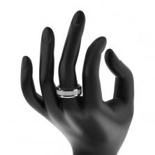 Wolframowa obrączka - pierścionek ze wzorem włókna węglowego