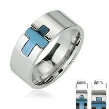 Stalowy pierścień - niebieski krzyż