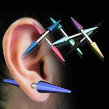 Kolczyk do ucha tytanowe szpice