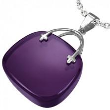 Zawieszka dla pań w kształcie fioletowej torebki