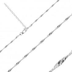 Srebrny łańcuszek 925 - lśniące owalne oczka w spirali, 1,7 mm