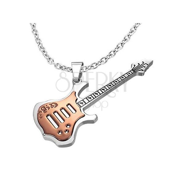 Stalowa zawieszka miedziana gitara