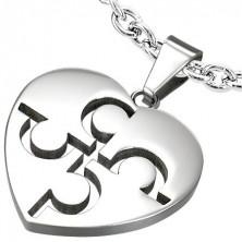 Zawieszka ze stali - srebrne serce puzzle