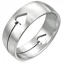 Stalowy pierścień Pik