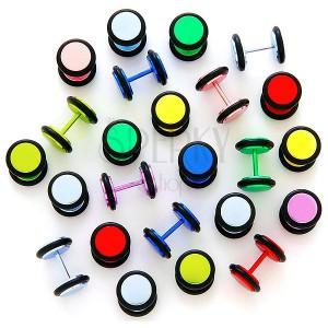 Neonowy fake plug anodyzowany z gumkami