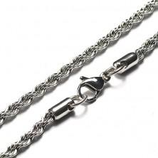 Stalowy łańcuszek kształt przeplatanego sznurka, 3 mm