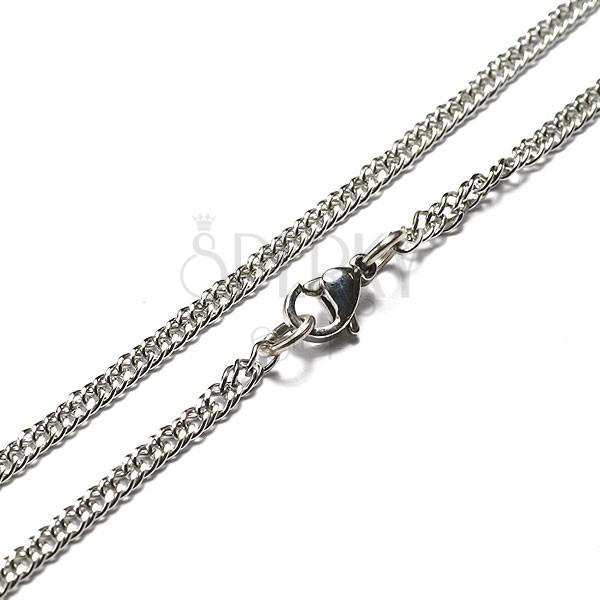 Stalowy łańcuszek - płaski kształt, małe ogniwa