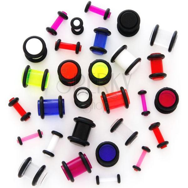 Plug do ucha UV przeźroczysty z gumkami