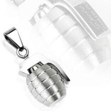 Stalowa zawieszka - granat ręczny