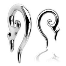 Piercing do ucha ze stali chirurgicznej - ozdobna spirala