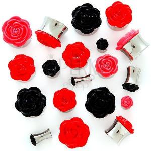 Plug do ucha plastikowa różyczka