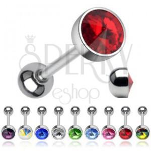 Kolczyk do języka - błyszczący kryształ w kształcie szpica