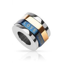 Zawieszki dla zakochanych - trójkolorowy pierścień, LOVE FOREVER