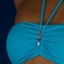 Wisiorek do stroju kąpielowego - wiszące kółka na łańcuszkach