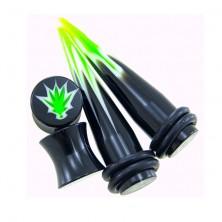 Taper i plug Marihuana - zestaw 2 plugi + 2 tapery
