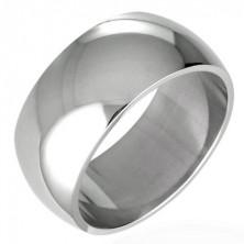Pierścień ślubny ze stali chirurgicznej - błyszczący, zaokrąglony 8 mm