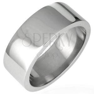 Stalowy błyszczący pierścionek, prosty - 8 mm