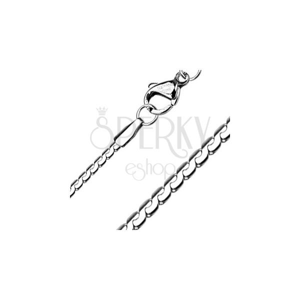 Płaski stalowy łańcuszek - segmentowy wąż, 1,5 mm