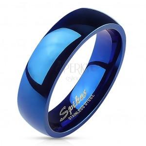 Niebieska obrączka o wysokim połysku